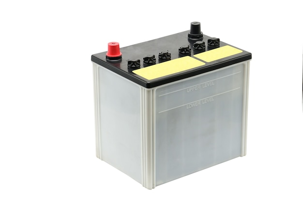 Car battery isolated on white