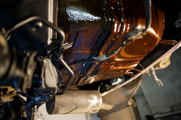 車のボディワーク、ワークショップの塗装、部品の修理