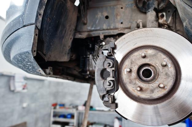 Car brakes repair and maintenance theme.