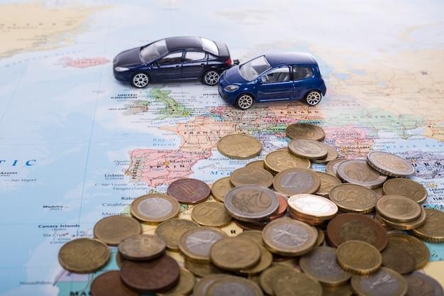 ヨーロッパ旅行のための車の予算