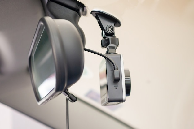 Car cctv camera video recorder for driving safety on the road