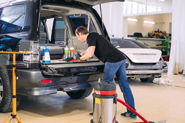 Авто химик. химическая обработка багажника автомобиля.