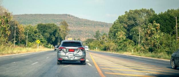 道路での自動車事故