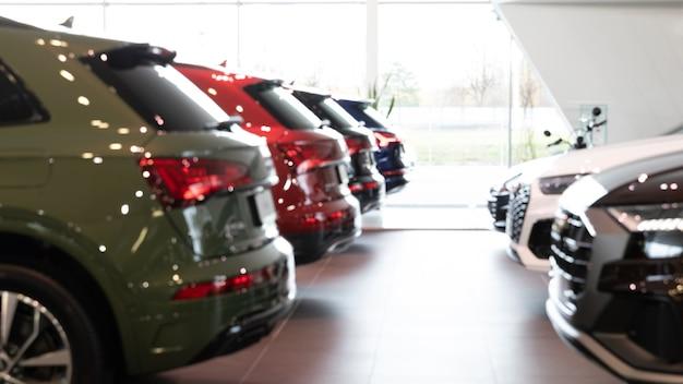 自動車販売店は、背景アプリケーションの背景をぼかしました