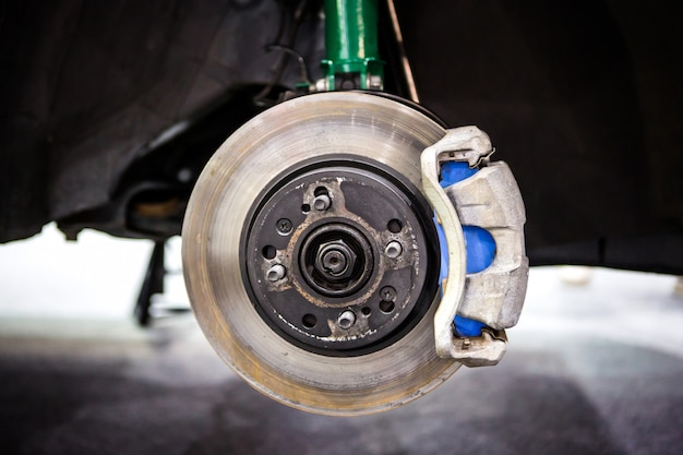 Car disc brake and green shock absorber