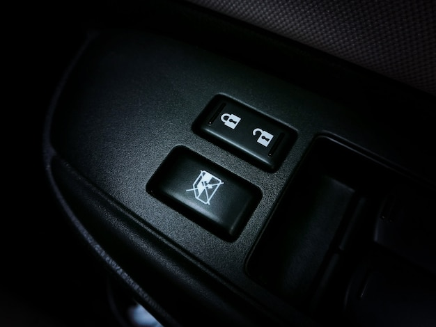 Car door panel control switch with car glass window switch of car.