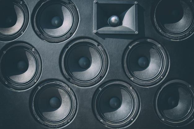 Car door with lots speakers