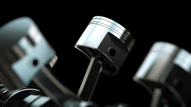 Поршни двигателя автомобиля Premium Фотографии