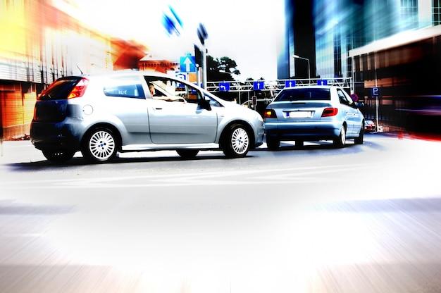 Car entering a parking