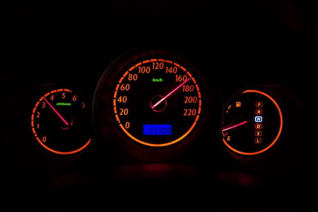 Car gauge high speed driving at night vision vehicle illumination dashboard