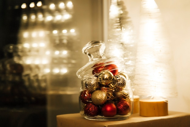 A car in a glass christmas ball