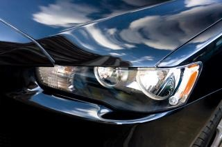 Car headlight  reflection