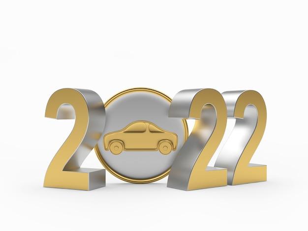 Значок автомобиля с номером нового года