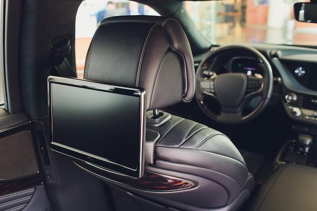 Car inside. interior of prestige luxury modern car