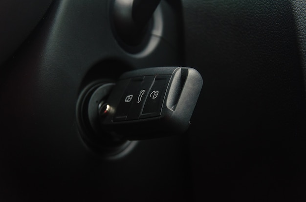 Car key in the ignition