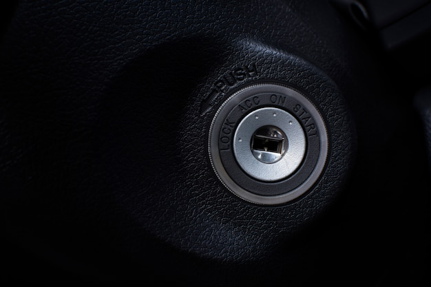 Car keyhole ignition for start engine of a car.