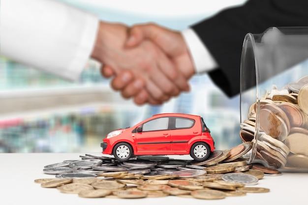 Car money buy insurance credit rent concept