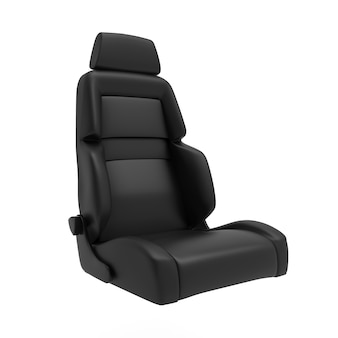 Car racing seat 3d illustration isolated on white background auto sport chair render