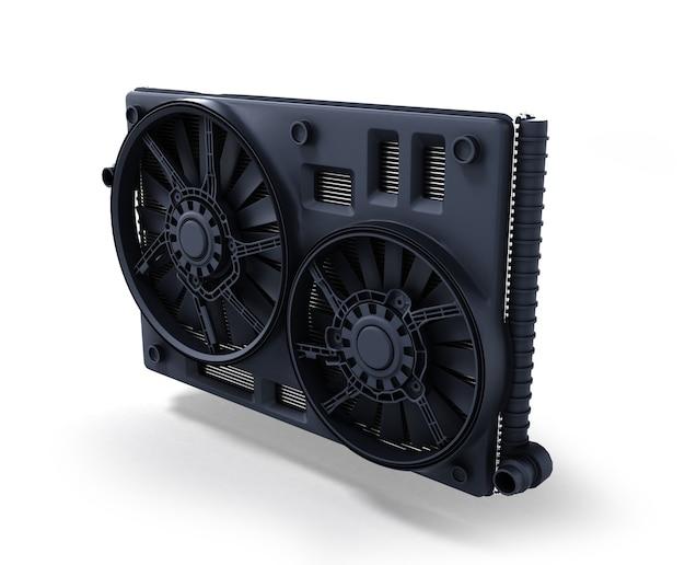Радиатор автомобиля, изолированные на белом фоне 3d иллюстрация