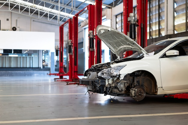 Car in repair station and body shop
