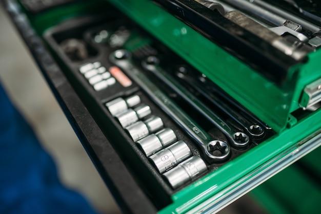Ящик для инструментов для автосервиса, профессиональный инструмент