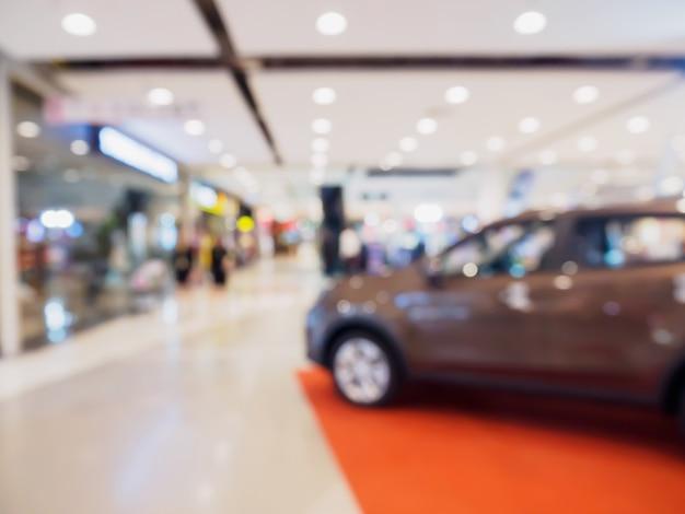 배경에 대한 자동차 쇼룸 흐림