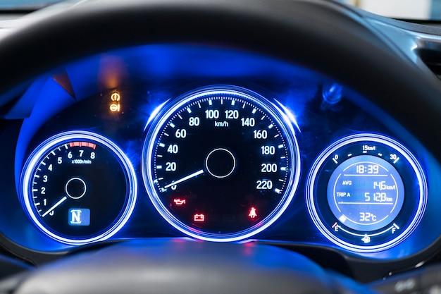 Car speedometer background.