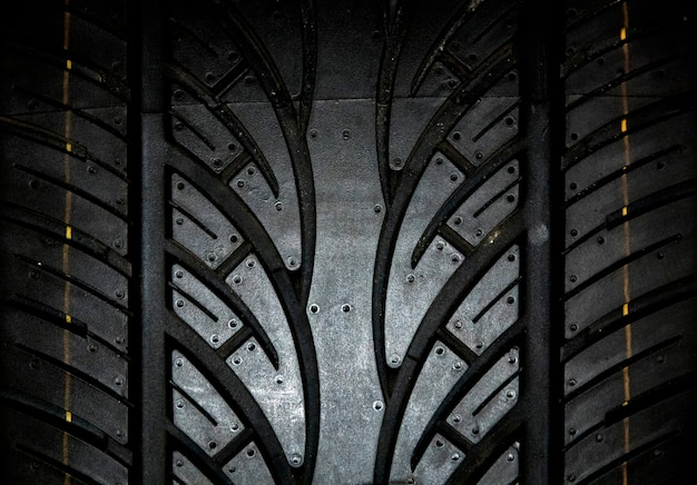 Car tire background, tyre texture closeup background