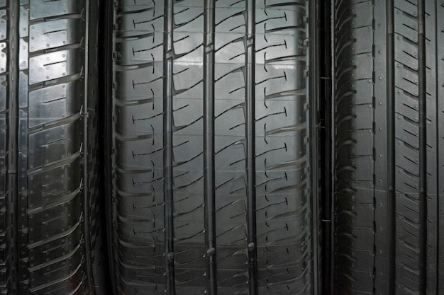 Car tire background, tyre texture closeup background,
