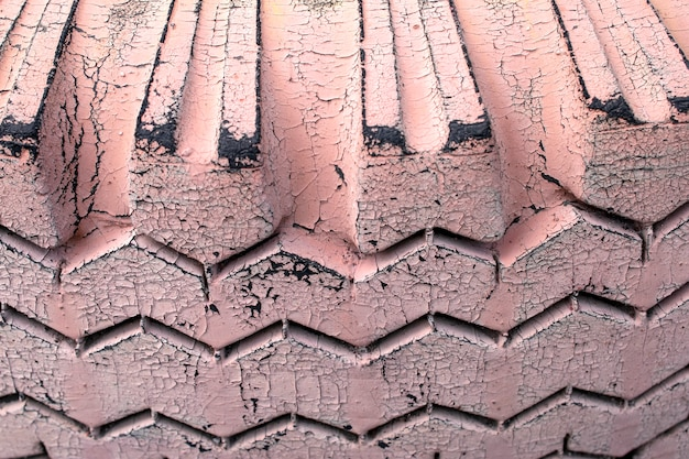 Car tire texture in color embossed patterns background