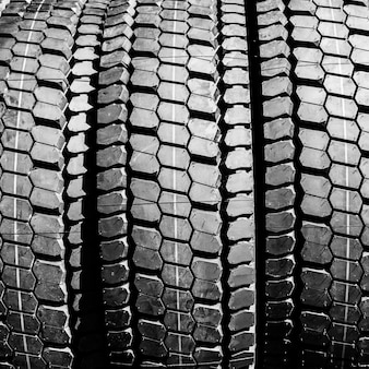 Car tires close-up background.