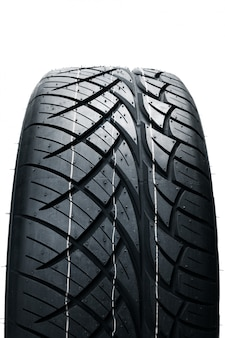 Car tires isolated. summer car tires