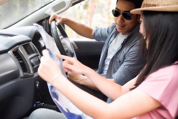 Car travel and road trip