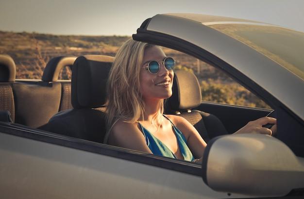 Car trip in summer