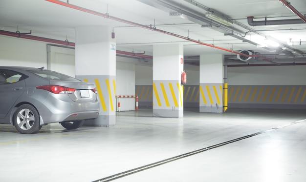 Car on underground parking garage.