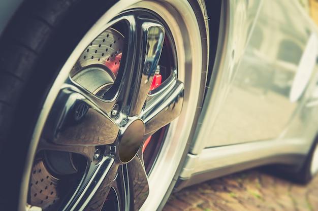 Car in vintage effect