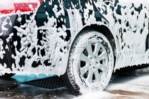 Car wash active foam