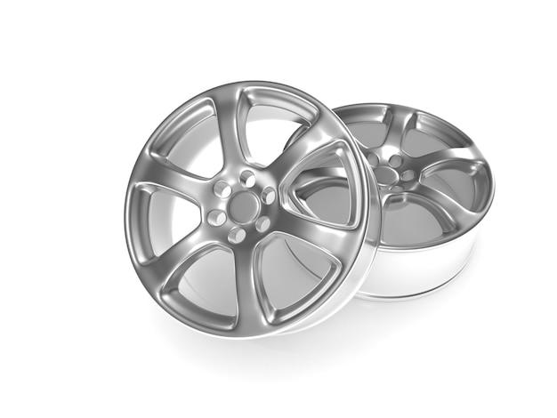 Car wheel isolated on white