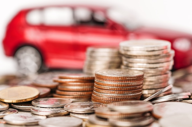 Car with stack coin.