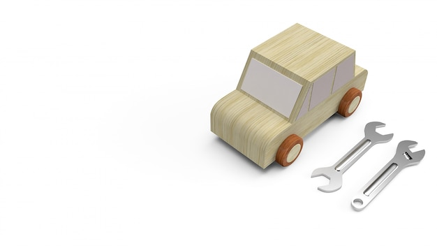 Car wood toy for car service