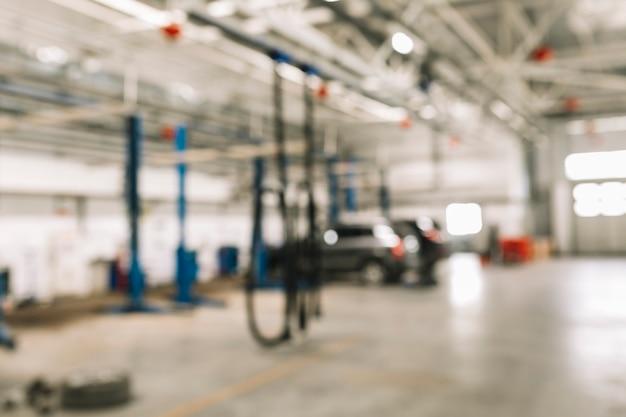 Car workshop background