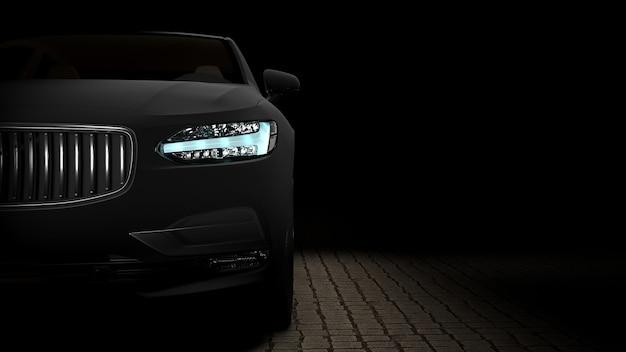 Car wrapped in black matte film