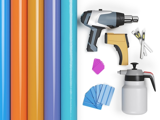 Car wrapping tools. high qualiti photo realistic 3d render
