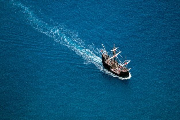 Caravel replica sailing