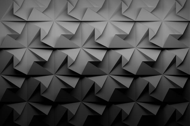 Carbon black low poly geometric background