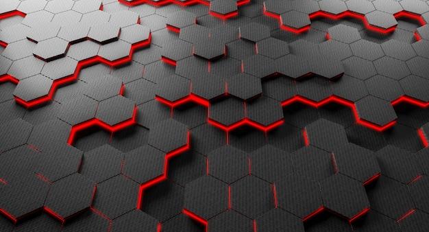 炭素繊維六角形の背景