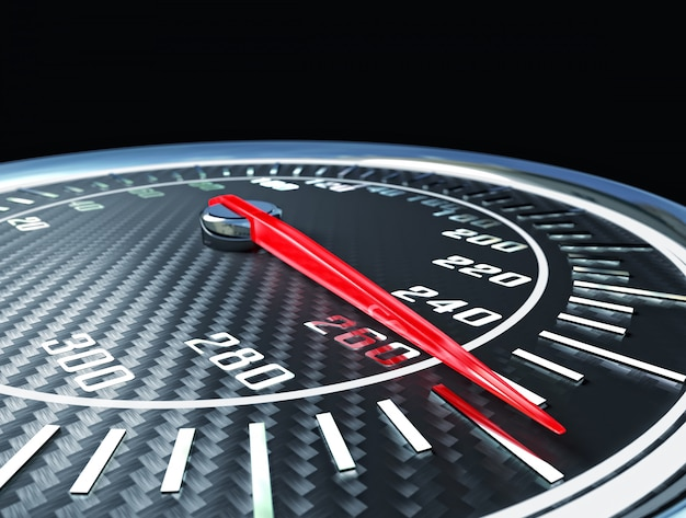 Carbon fiber speedometer