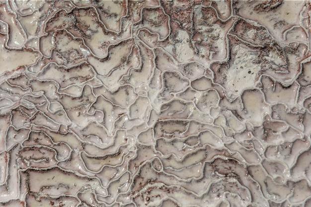 Карбонатный минерал, оставленный течением насыщенных кальцитом вод термального источника в памуккале