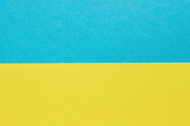 抽象的な青、黄色の紙の背景、テクスチャcarbord