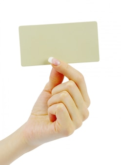 Card blank in hand